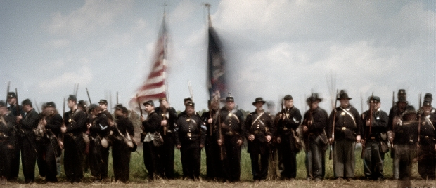 Re-enactors in Michie, TN. 2012