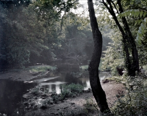 Bull Run Creek near Farm Ford, the site where Union troops crossed the creek on their way to the Manassas battlefield