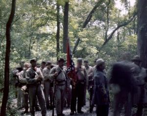 Confederate re-enactors march to battle, Elizabethtown, Pa 2012