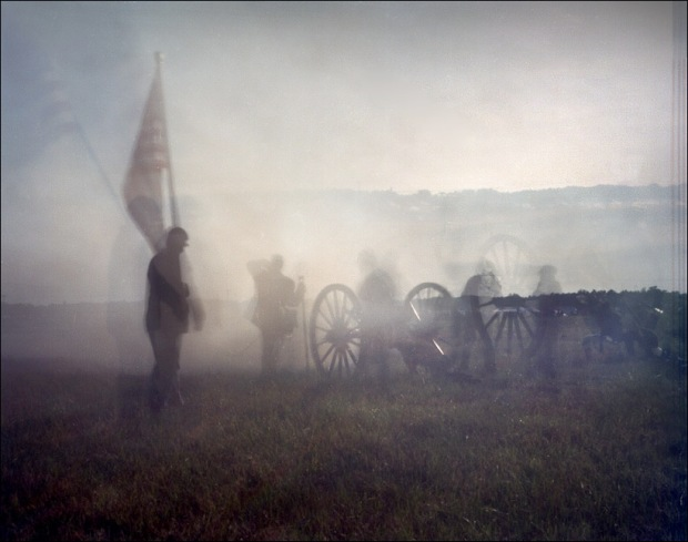 Artillery during a reenactment at Gettysburg, PA. 2012