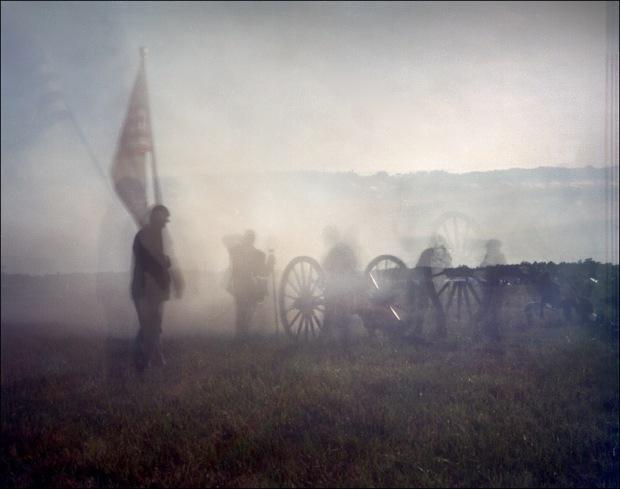 Artillery during a reenactment at Gettysburg, PA. 2012