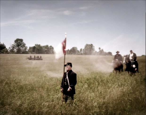 Re-enactors during a reenactment of the Battle of New Market, VA. 2012