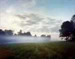 Gun smoke lingers in a meadow during a Seven Days Reenactment in Elizabethtown, PA. 2012