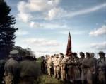 Confederate re-enactors form up during a battle reenactment in Elizabethtown, PA. 2012
