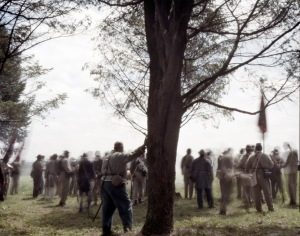 Re-enactors reform for another attack in Elizabethtown, PA. 2012