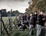 Re-enactors during a Seven Days Battles reenactment in Elizabethtown, PA. 2012