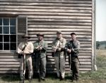 Confederate re-enactors at the Henry House, Manassas Battlefield, VA. 2011