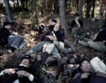 Re-enactors rest in the shade on the Battlefield at Raymond, MS. 2012