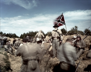 Re-enactors at the 2nd Texas Lunette, reenactment of the Battle of Vicksburg, Raymond, MS. 2012