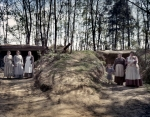 """Re-enactors in the """"Vicksburg Caves"""" during a reenactment of the Battle of Vicksburg in Raymond, MS. 2012"""