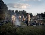 Re-enactors stir as the sunrises on the Battlefield at Raymond, MS. 2012