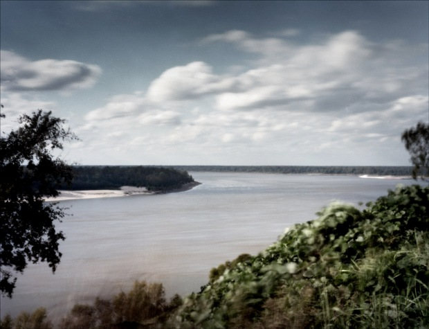 The bend in the Mississippi River at the City of Vicksburg, MS. 2012