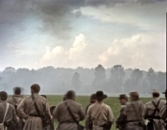 Confederate re-enactors during a reenactment of the Battle of Shiloh in Michie, TN. 2012