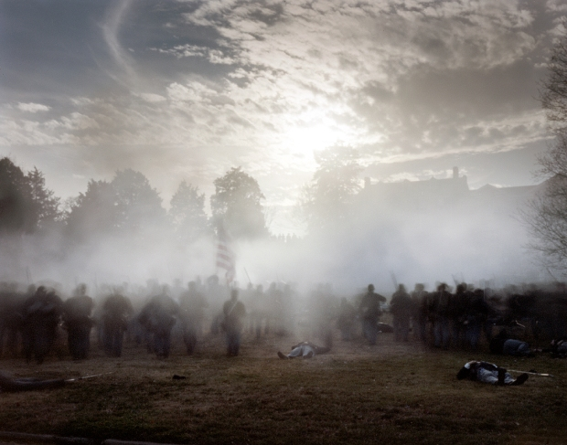 The 150th anniversary reenactment of the Union assault on Marye's Heights