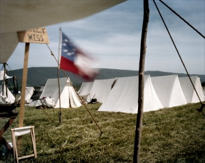 Confederate camp on the Battlefield at New Market, VA. 2012