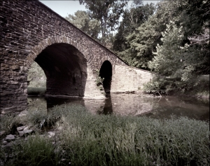 Bridge over the Bull Run Creek at Manassas, VA.