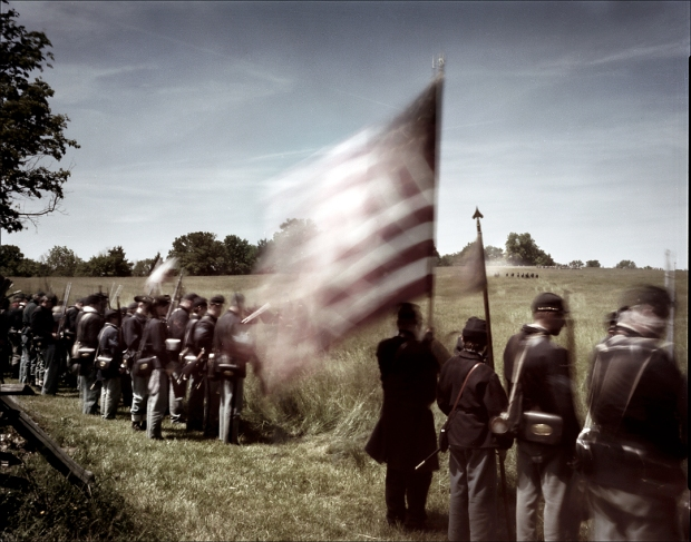 The reenactors point of view on the Battlefield at New Market, VA. 2012
