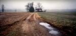 The Slaughter Pen Farm on the battlefield of Fredericksburg, VA.  Looking toward the Union advance and the RF&P Railroad, Fredericksburg, VA. 2012