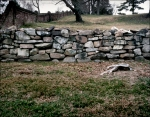 Section of the Stone Wall on Marye's Heights, the Battlefield at Fredericksburg, Va 2012