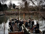 Re-enactors built two replica pontoon boats to reenact the amphibious landing made by Union troops in 1862, during a reenactment of the Battle of Fredericksburg, VA. 2012