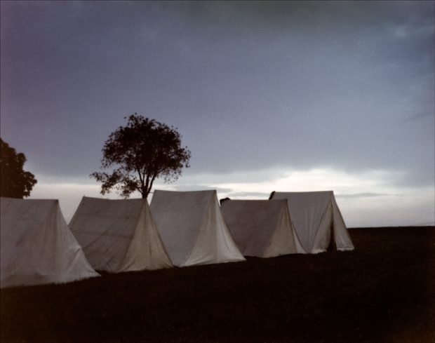 Camp at Dusk, Gettysburg, Pa.  2012