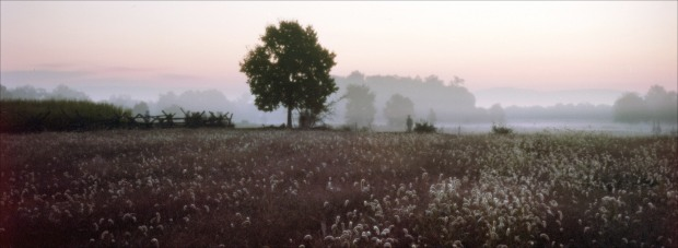 Dawn at Antietam on the 150th anniversary of the battle. Sharpsburg, Md. 2012