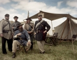 Reenactors of the 1st Virginia Regiment in camp at the reenactment of the Battle of Chancellorsville in Spotsylvania County, Va 2013.