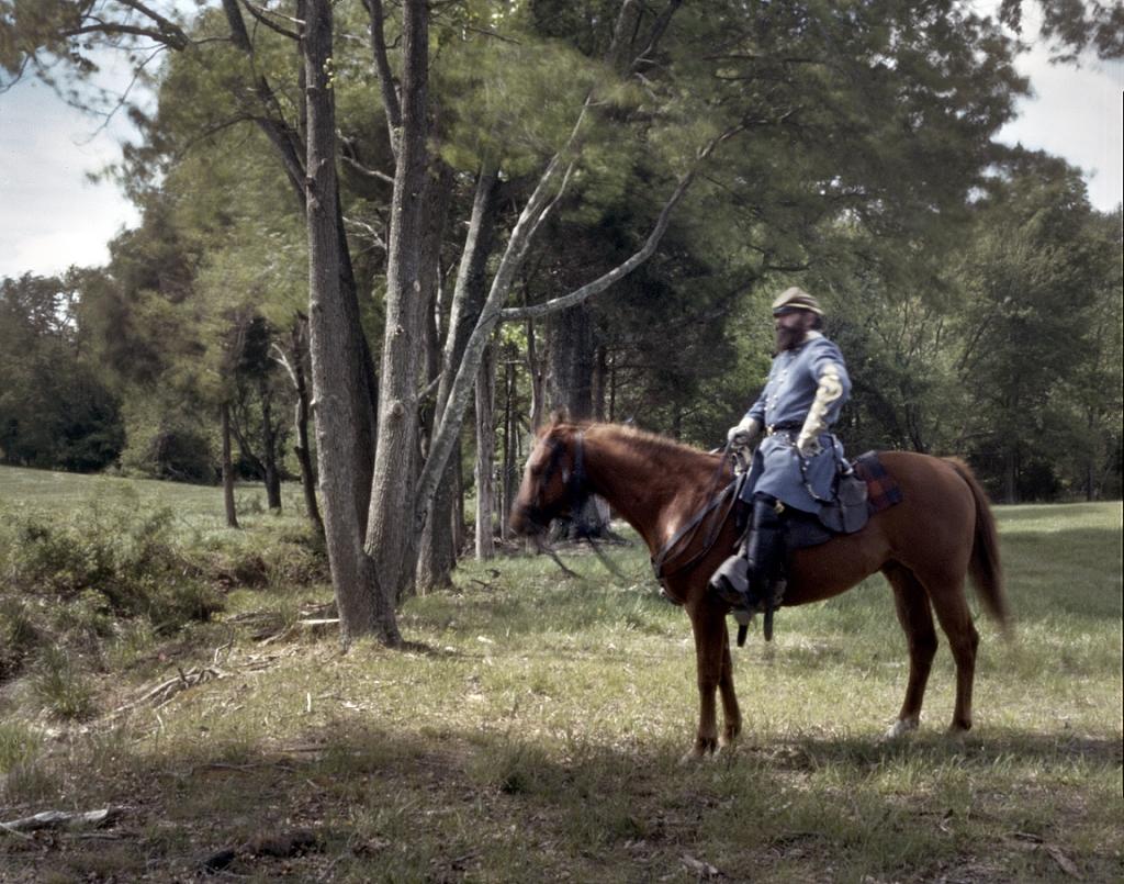 "Thomas ""Stonewall"" Jackson, aka, Greg Randall at the reenactment of the Battle of Chancellorsville in Spotsylvania County, Va 2013."