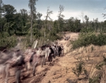 Confederate troops on the march at the reenactment of the Battle of Chancellorsville in Spotsylvania County, Va 2013.
