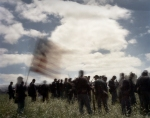 Union troops at the reenactment of the Battle of Chancellorsville in Spotsylvania County, Va 2013.