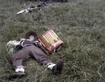 """Dead"" drummer boy at the reenactment of the Battle of Chancellorsville in Spotsylvania County, Va 2013."