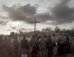 Church service during a reenactment of the Battle of Chancellorsville in Spotsylvania County, Va 2013.