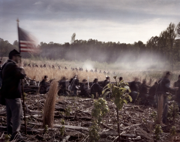 Reenactors at the Battle of Chancellorsville in Spotsylvania County, Va  2013.