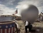 Balloon observation during the reenactment of the Battle of Chancellorsville in Spotsylvania County, Va 2013.
