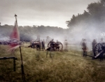Confederate guns fire at the reenactment of the Battle of Chancellorsville in Spotsylvania County, Va 2013.
