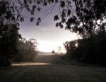Sunrise between the hill of Hazel Grove and Fairview on the Battlefield at Chancellorsville, Va 2013