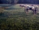 Cannons in early morning light at Fairview on the Battlefield at Chancellorsville, Va 2013