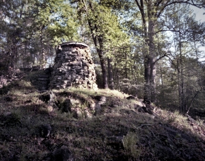The ruins of Catherine's Furnace along Jackson's flank march route on the Battlefield at Chancellorsville, Va 2013
