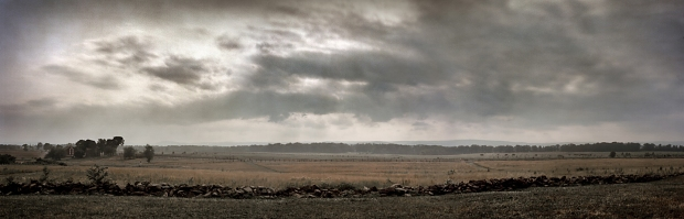 The view from Cemetery Ridge towards Pickett's Charge at Gettysburg, Pa. 2013