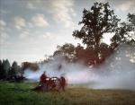 Union guns fire during a Gaines' Mill Battle reenactment. 2012