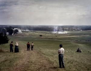 The battle begins on the Bushey Farm, at Gettysburg. 2013