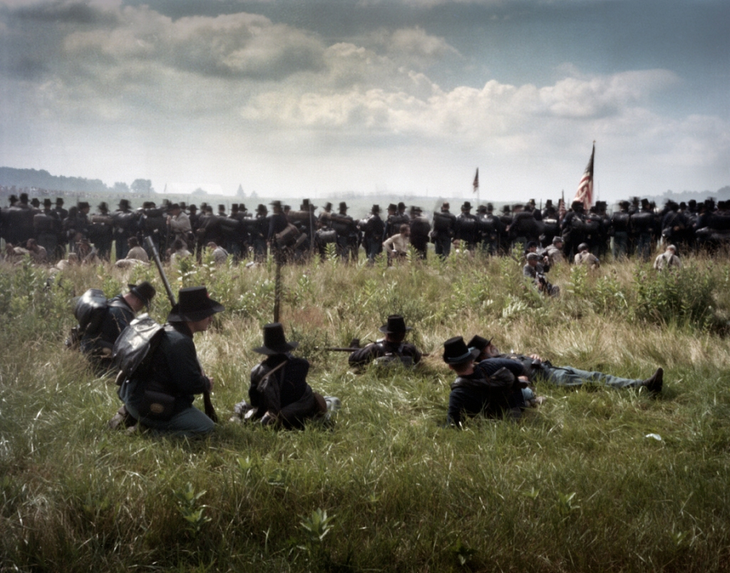 The Iron Brigade enters the fight on the first day at Gettysburg. 2013