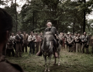 """General Lee"" visits his troops before ""pickett's Charge"" on the Bushey Farm, Gettysburg, Pa 2013"