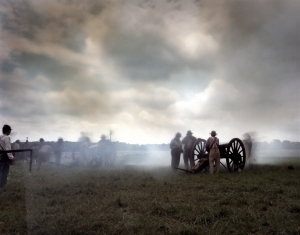 Rebel guns open the cannonade at Gettysburg. 2013