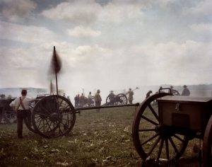 Confederate artillery during a reenactment of the Battle of Gettysburg, Pa. 2013