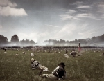 "Confederate wounded during ""Pickett's Charge"" on the Bushey Farm, Gettysburg, Pa 2013"
