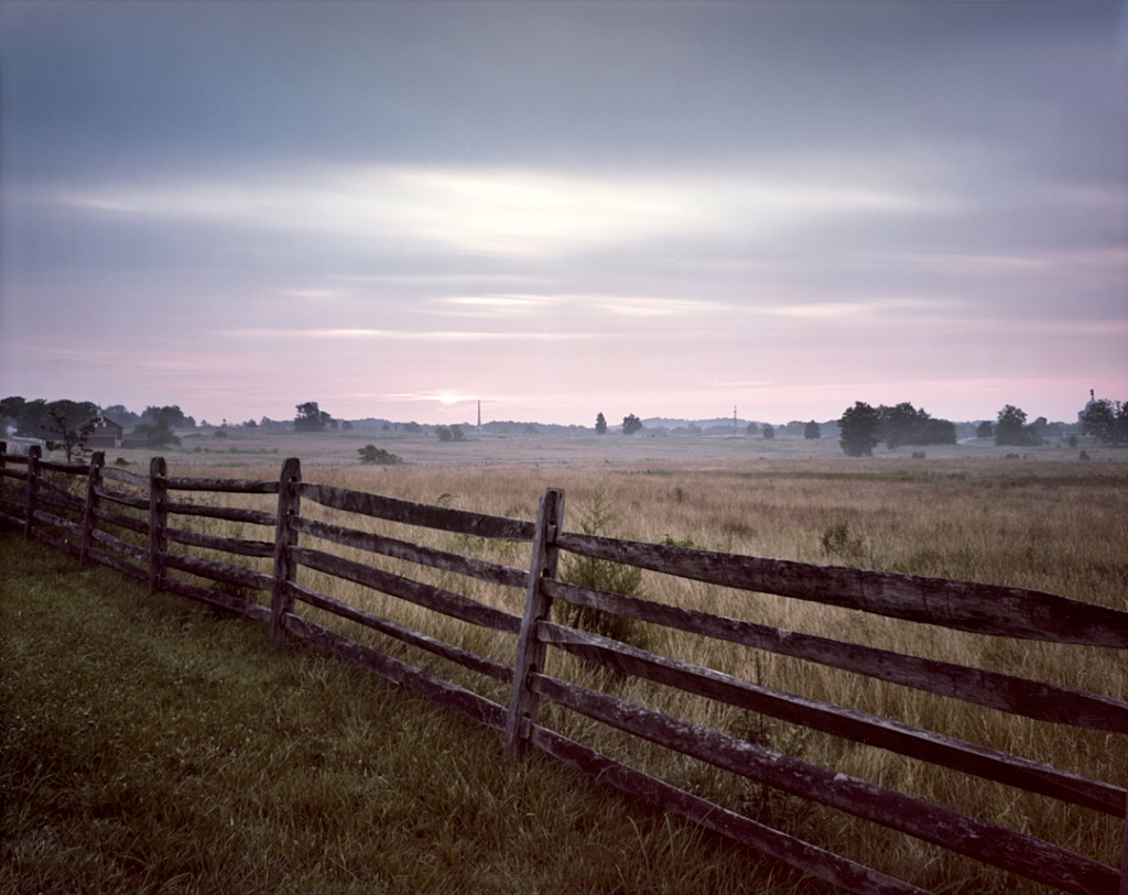 Sunrise along the Emmitsburg Road on the Battlefield of Gettysburg, Pa. 2013