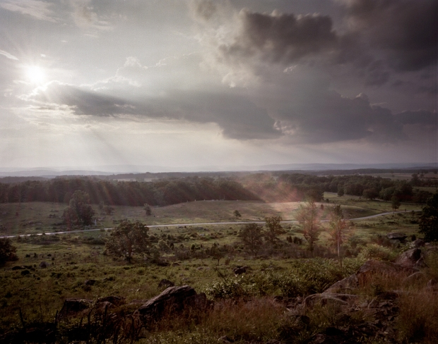 Looking over the battleground of July 2nd, from Little Round Top. 2013