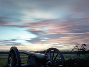 Sunset at Cemetery Ridge on the Battlefield at Gettysburg, Pa. 2013