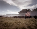 "Union troops fight on their ""own soil"" during a Gettysburg battle reenactment. 2013"